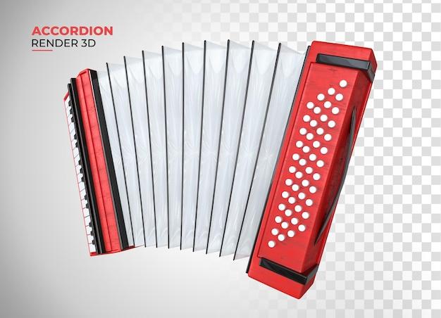 Классический аккордеонный стиль деревянный мультяшный 3d визуализация