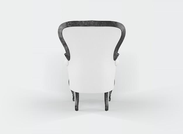 Классическое кресло на белом
