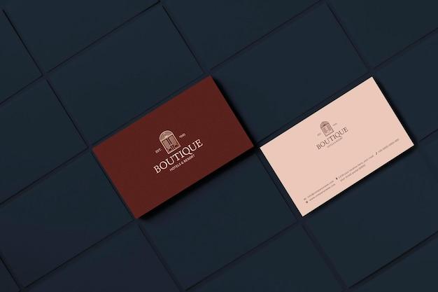 Классический макет визитки psd дизайн фирменного стиля