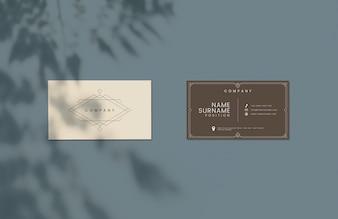 Classic design business card mockup
