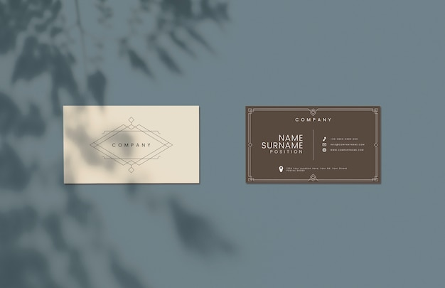 Classic design business card mockup