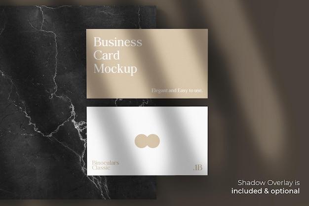 Классический элегантный макет визитной карточки с тенью