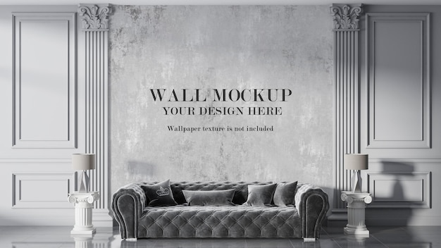 Classic living room wall mockup