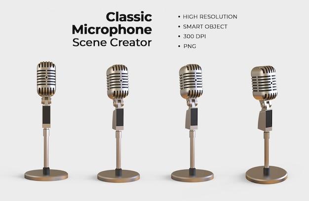 Classic microphone scene creator