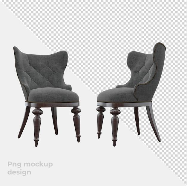 Классический диван 3d рендеринг декора и интерьера