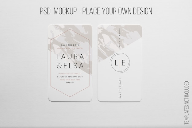 Classic vertical business card mockup