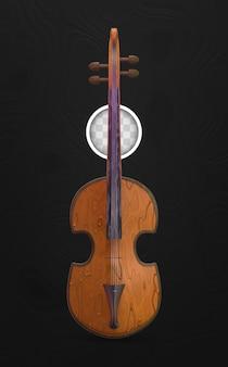 クラシック音楽のバイオリン。 3dイラスト
