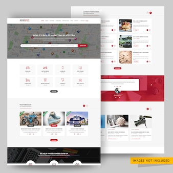 Classified ads posting website psd template
