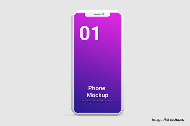 Clay phone mockup isolated