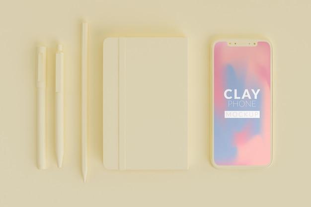 Clay phone mockup