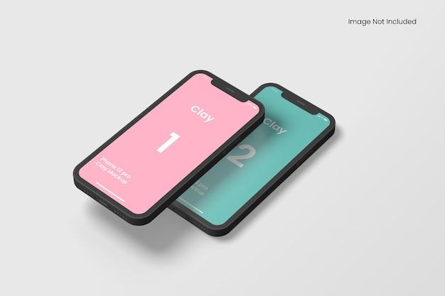 クレイスマートフォンアプリのモックアップ
