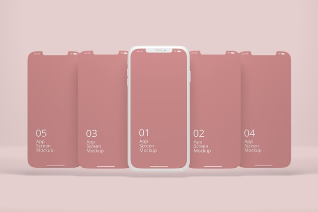 Clay smartphone for apps screen mockup