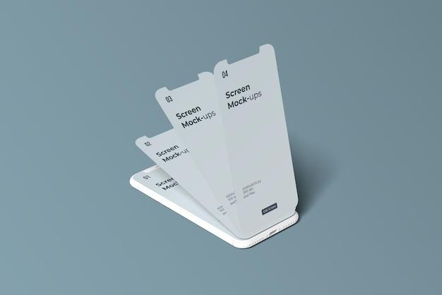 애플리케이션 화면 모형을위한 clay 스마트 폰