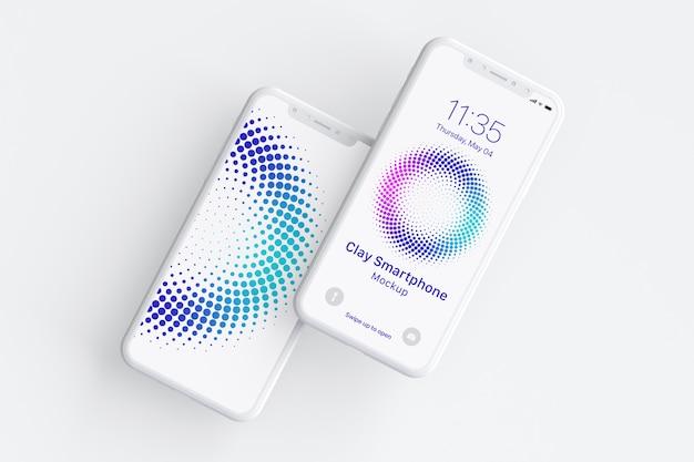 Clay smartphone mockup