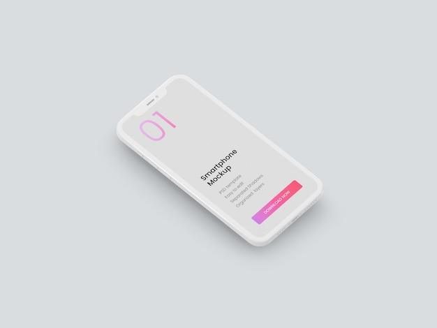 Мокап смартфона из глины