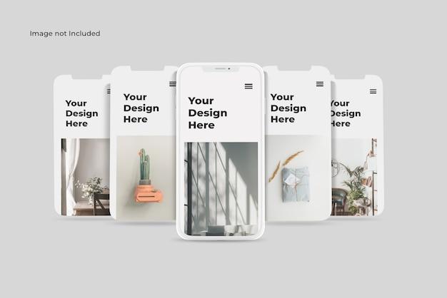 Макет приложения для презентации смартфона из глины