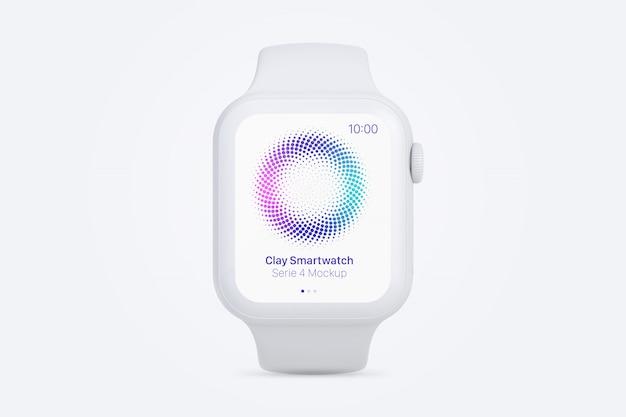 Глина smartwatch макет, вид спереди