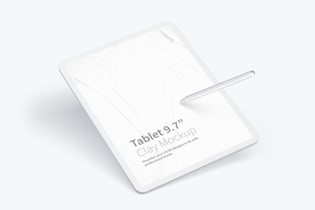 "Clay tablet pro 12,9""モックアップ"