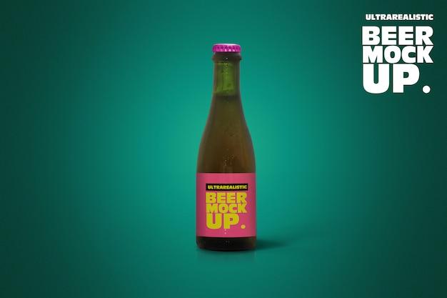 Clean 37cl tan beer mockup