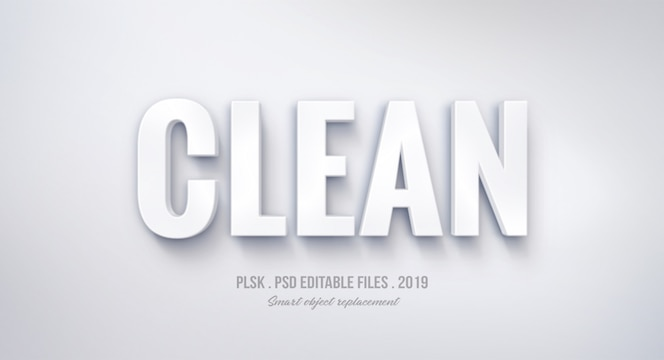 Clean 3d text style effect