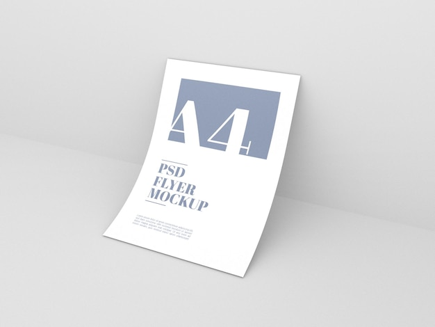 Clean a4 psd flyer mockup
