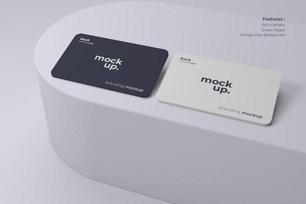 깨끗하고 현대적인 명함 모형