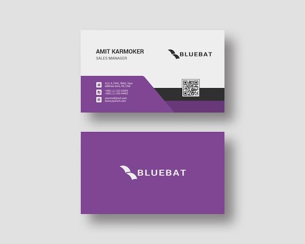 Clean business card design template