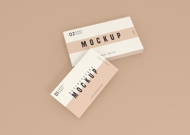 Clean business card psd mockup design