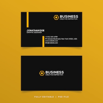 Clean business card set template