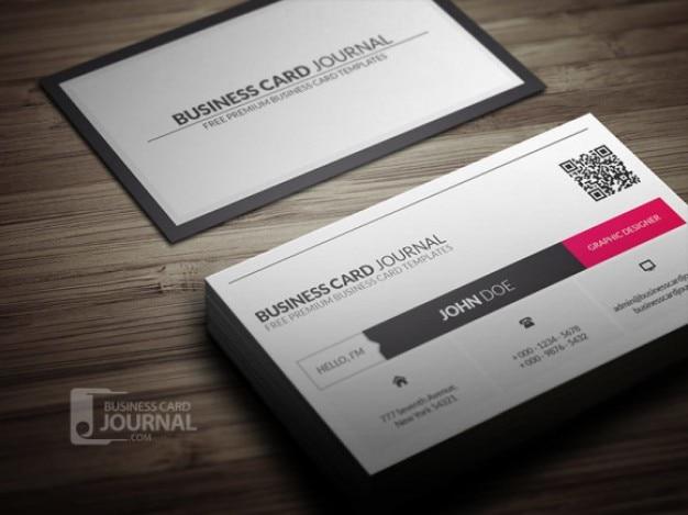 Clean business card tempate psd
