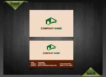 Real estate business card vectors photos and psd files free download clean business card template real estate colourmoves Gallery