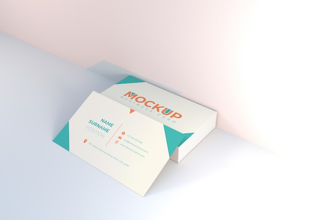 きれいなビジネス名カードモックアップデザインテンプレート
