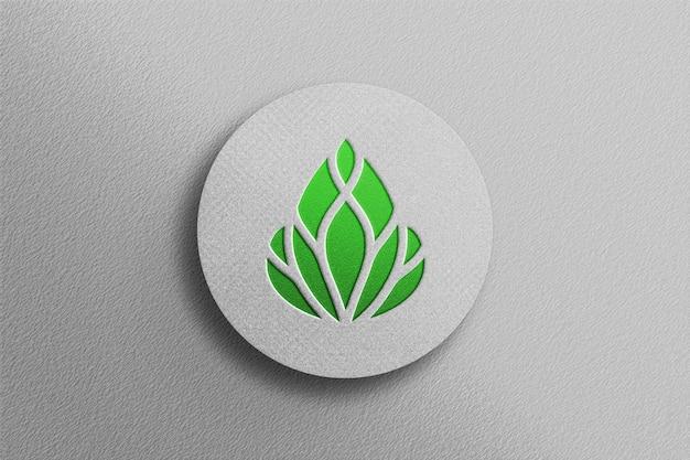 Clean color 3d debossed logo mockup