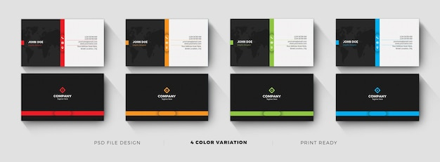 Clean dark business card template design