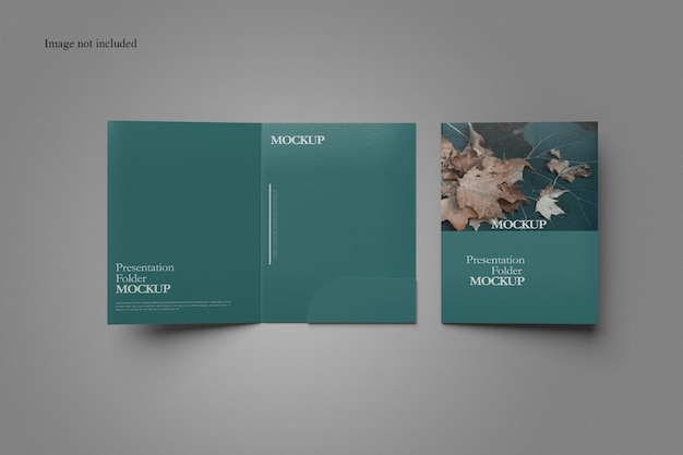 Clean document folder mockup design