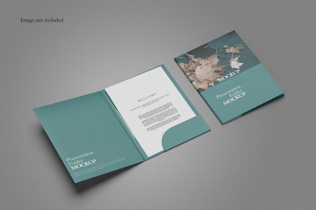 깨끗한 문서 폴더 목업 디자인