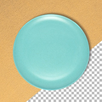Чистая пустая керамическая пластина, изолированные на прозрачности