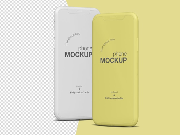 Clean frontview phone screen mockup template