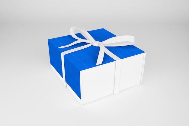 Макет чистой подарочной коробки