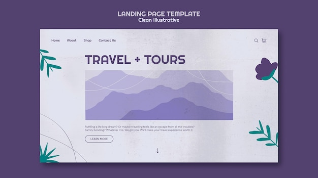 Clean illustrative landing page template