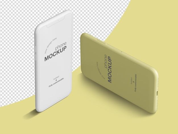 Шаблон макета чистых изометрических телефонов