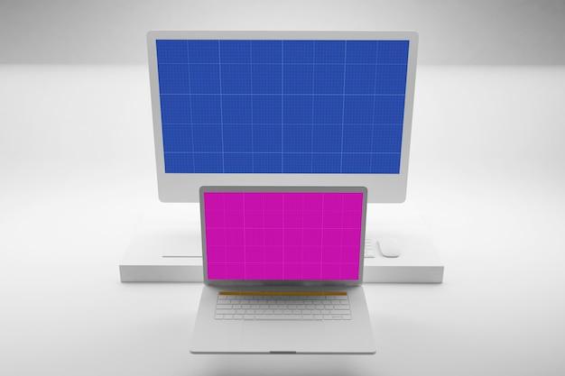 Clean laptop & computer mockup