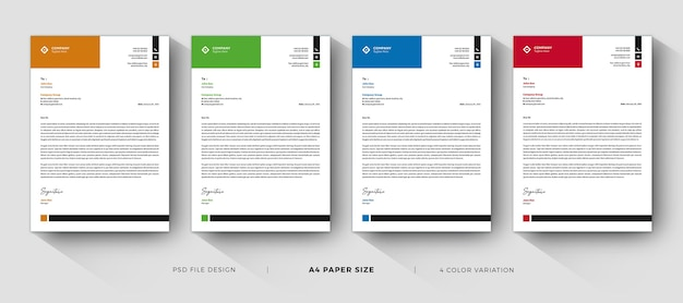 Clean letterhead templates professional and modern design