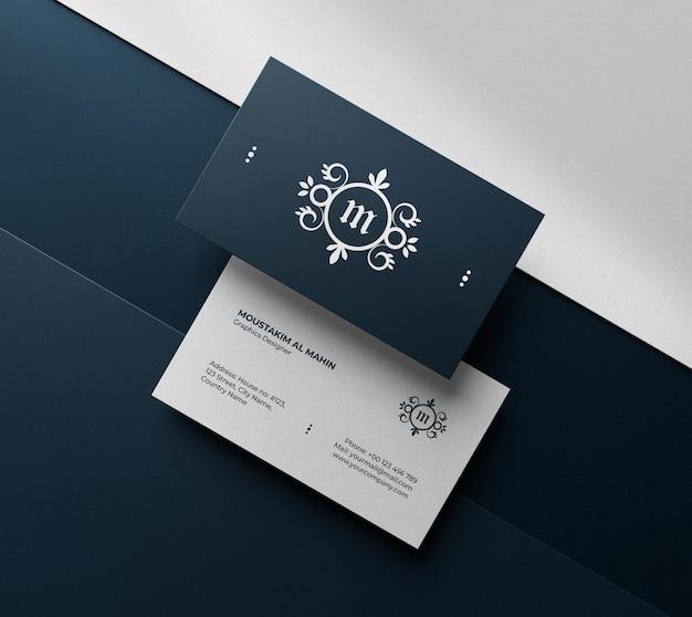 Чистый роскошный макет визитной карточки