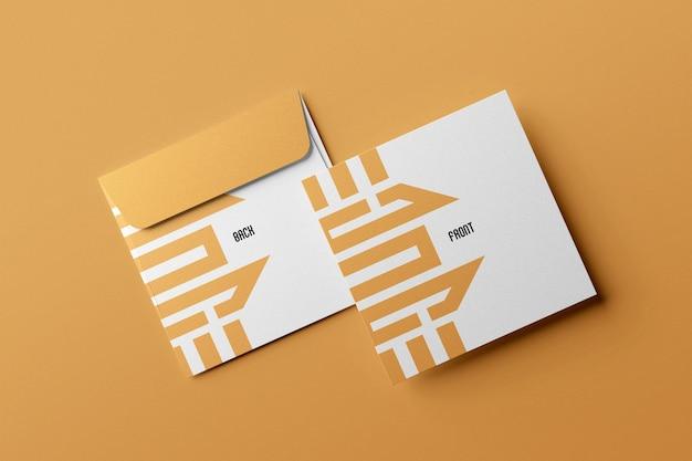 Clean luxury square envelope mockup