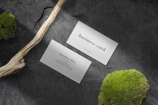 Clean minimal business card mockup on the floor