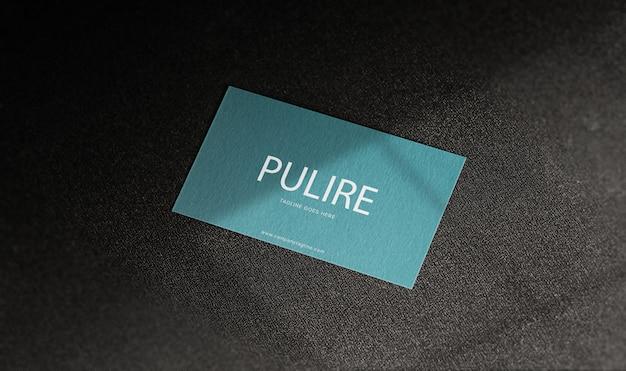 Clean and minimal business card mockup premium psd