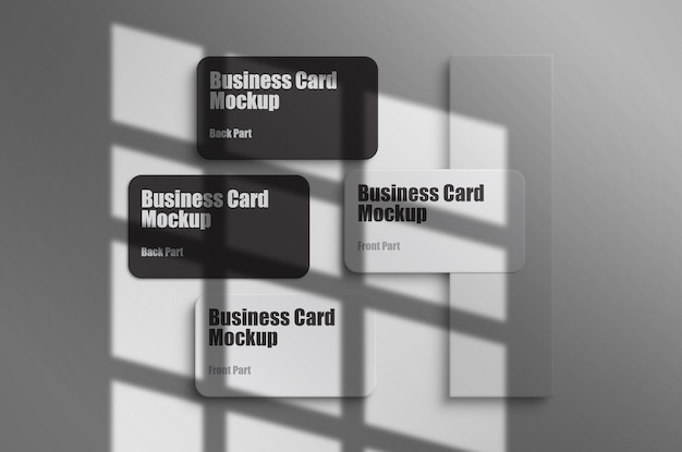 Clean and minimal business card mockup template