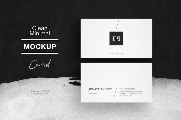 Clean minimal business card mockup vol 3
