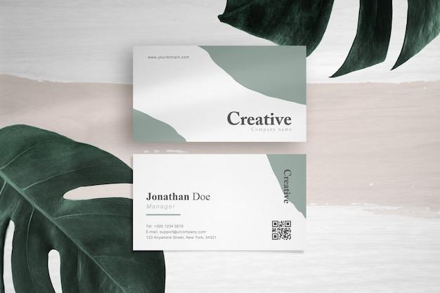 Clean minimal business card mockup vol 8